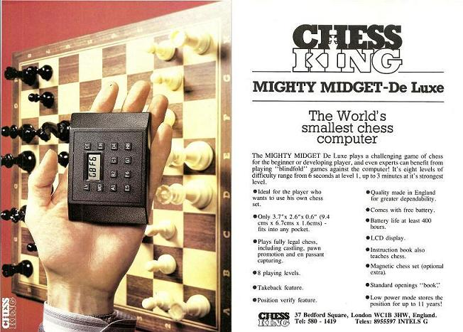 Advertisement Chess King Mighty Midget 80 x 80
