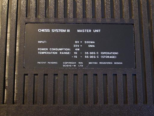Chess Champion Super System III  8 20x20
